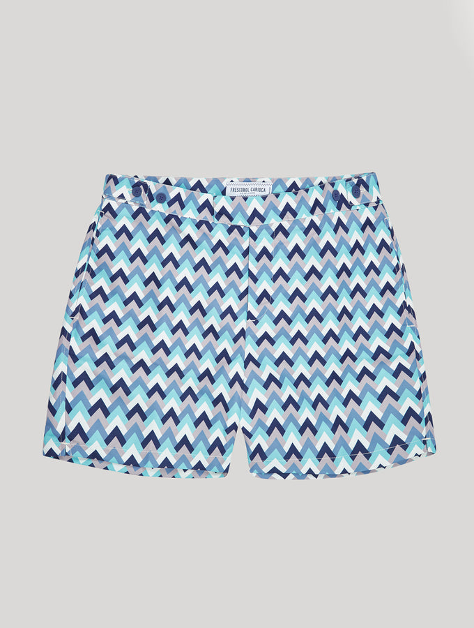 TAILORED SWIM SHORTS PARQUET PRINT
