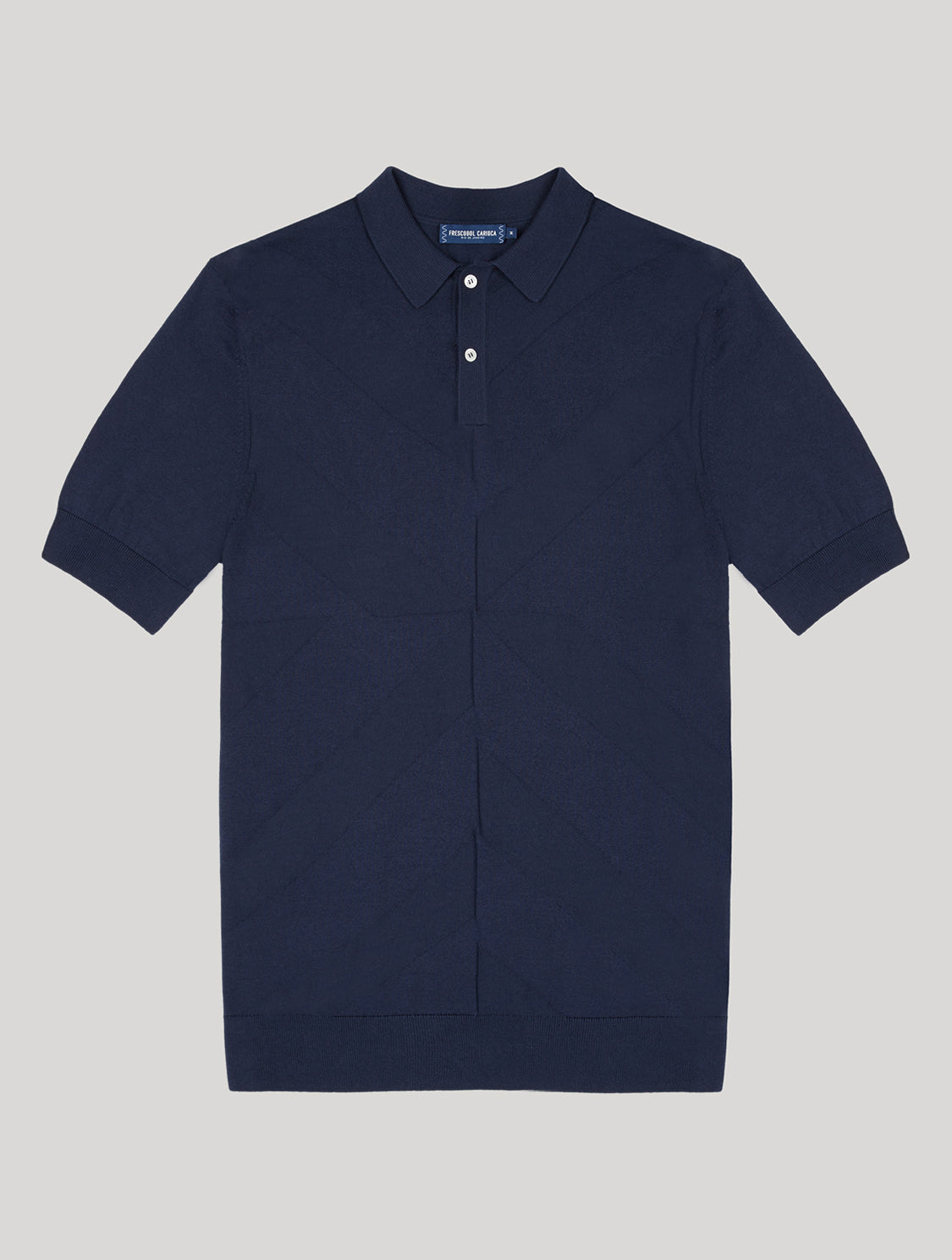 Francisco Knit Jacquard Navy-Blue S
