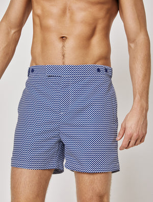 TAILORED SWIM SHORTS COPACABANA PRINT