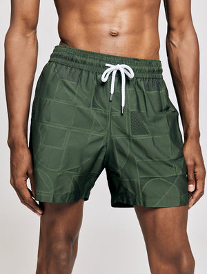 Jacquard Sports Swim Shorts Geo
