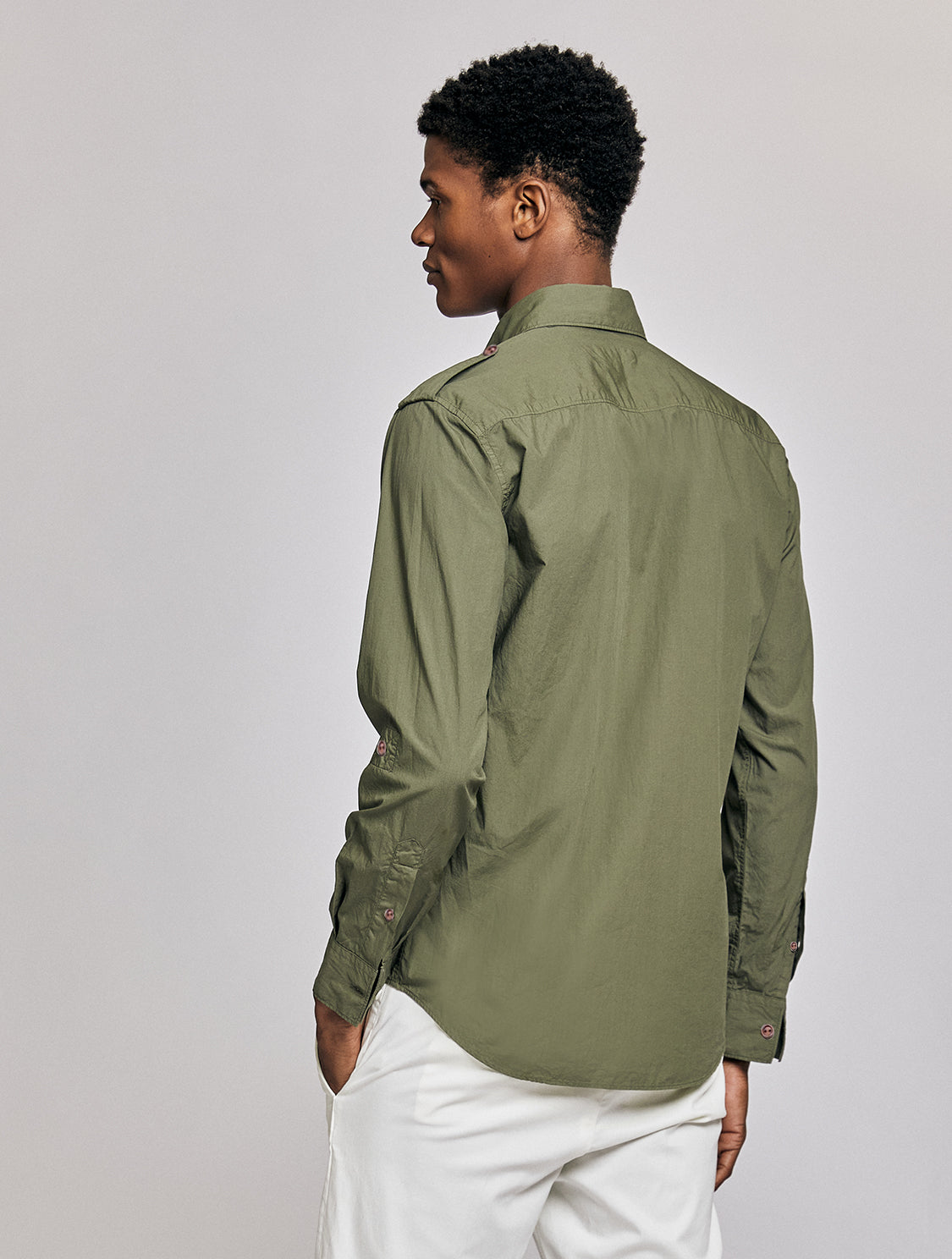 Tropical Cotton Military Shirt