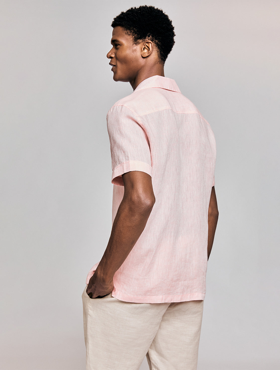 Camp Collar Linen Shirt