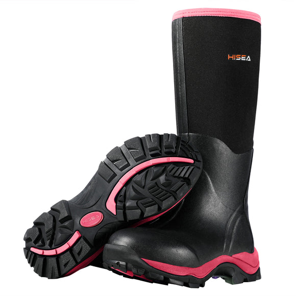 HISEA Female Neoprene Hunting Boots, Waterproof Outdoor Boots