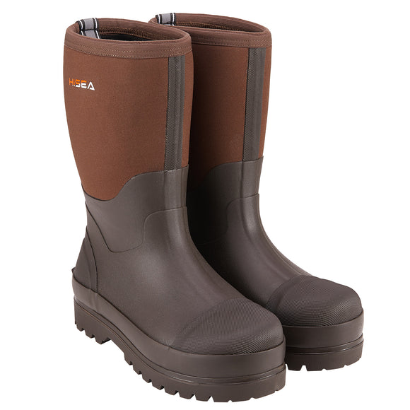 HISEA Men's Mid Rubber Work Boots