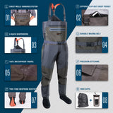 HISEA Ultralight & Breathable Chest Waders