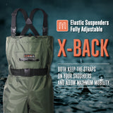 HISEA PVC Chest Waders with Steel Toe Boots - hisea.myshopify.com