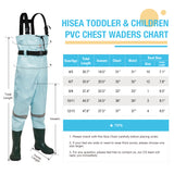 HISEA Kids Nylon/PVC Chest Waders