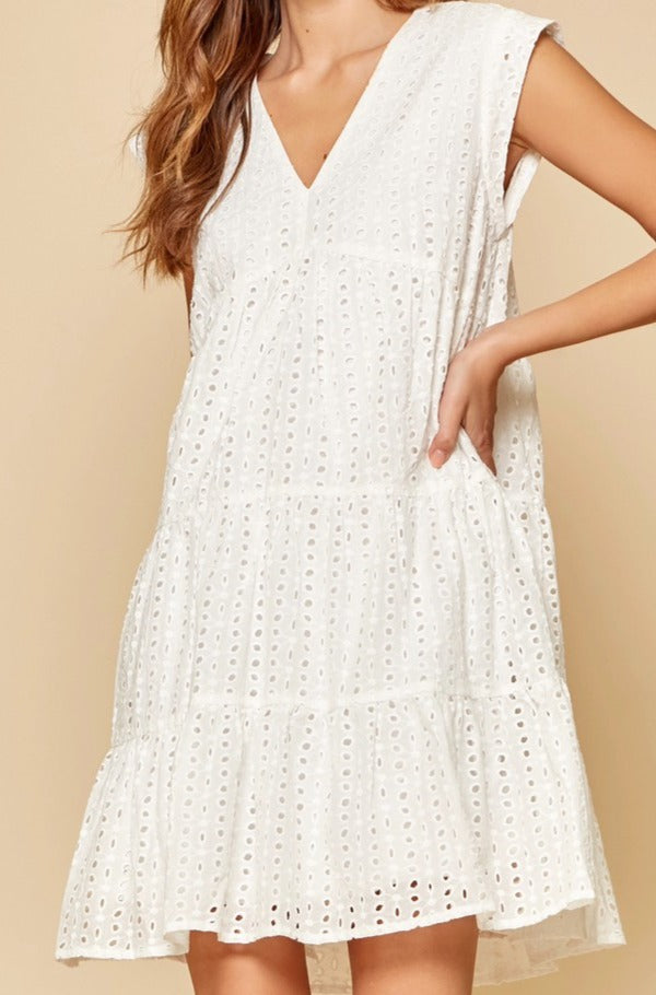 Crenshaw dress, ivory