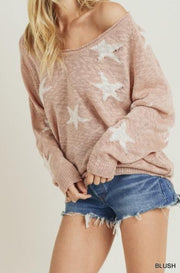 Hoppe Star Sweater, blush