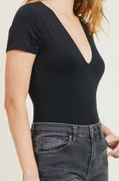 Sloan bodysuit top, black