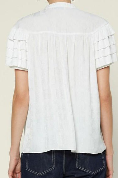 Claudette top, white