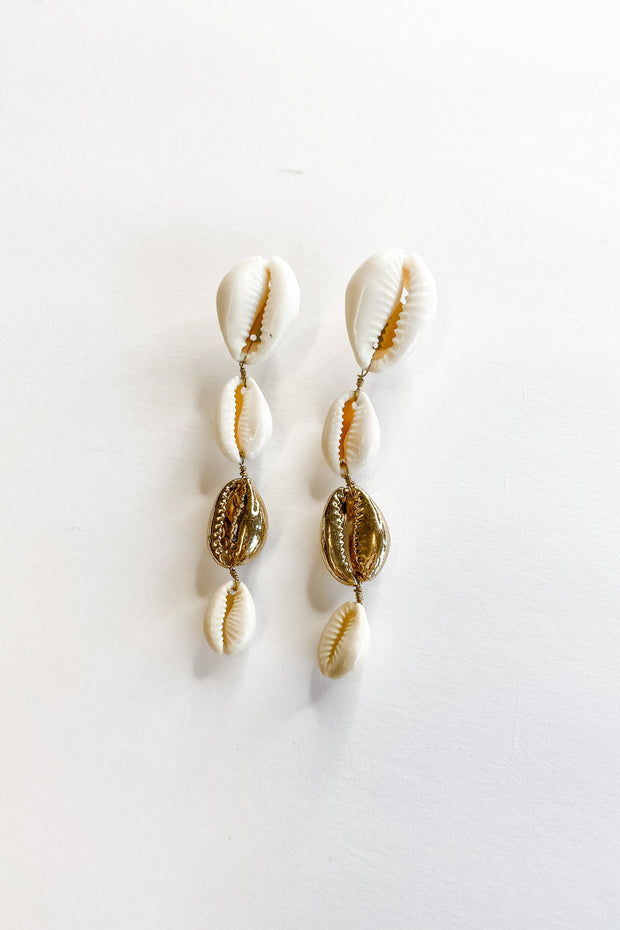 Middle St. shell earrings