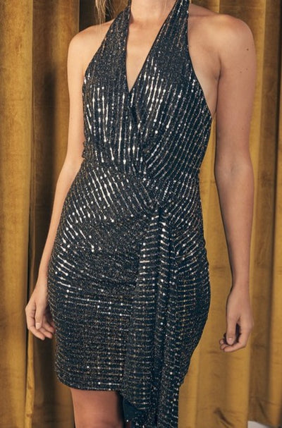 Highland Halter Sequin Dress