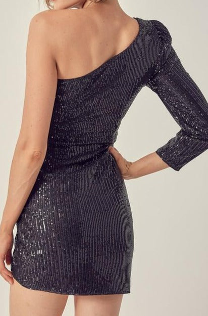 Foxcroft Sequin One Shoulder Dress
