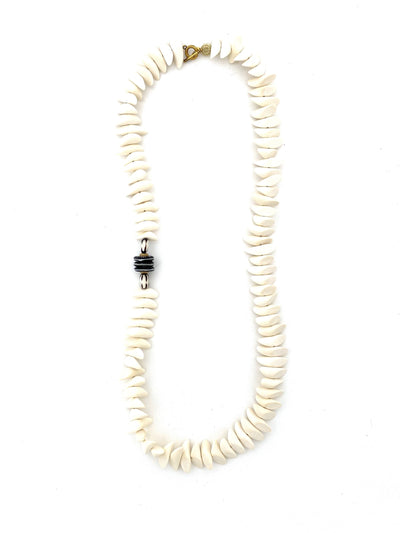 Joanna long classic necklace, white