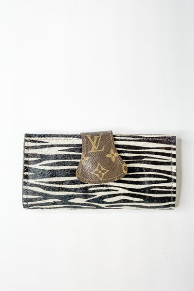 Zebra Upcycled LV Cowhide full size wallet