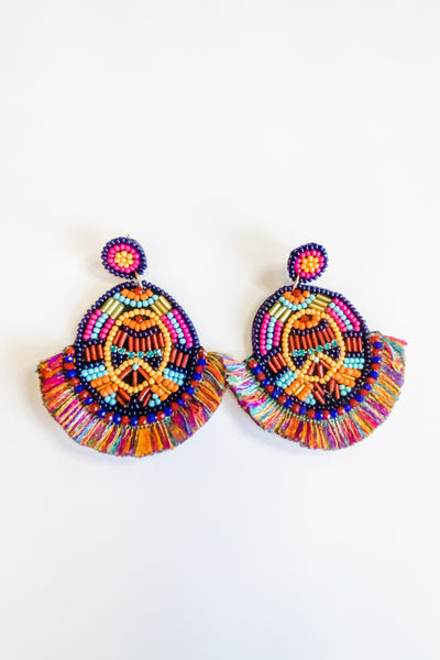Cove Avenue Beaded rainbow earrings
