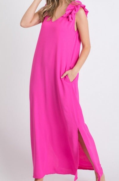 The Colony Dress, hot pink