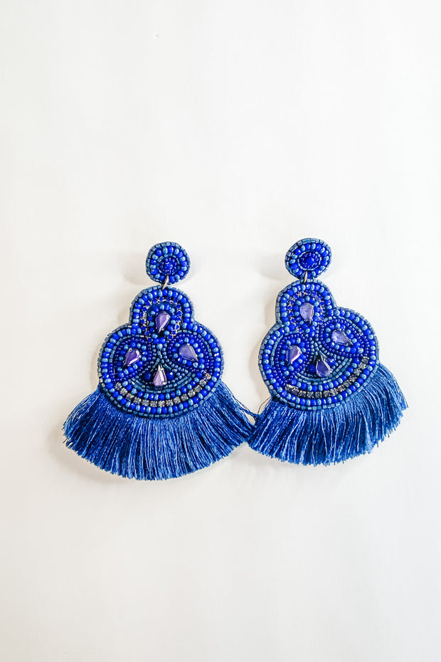 Bedons Alley Earrings, Blue