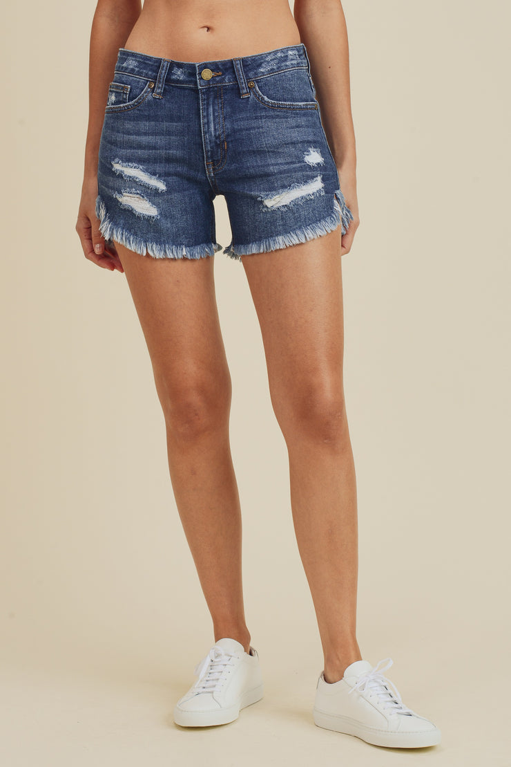 Williams mid rise shorts, medium denim