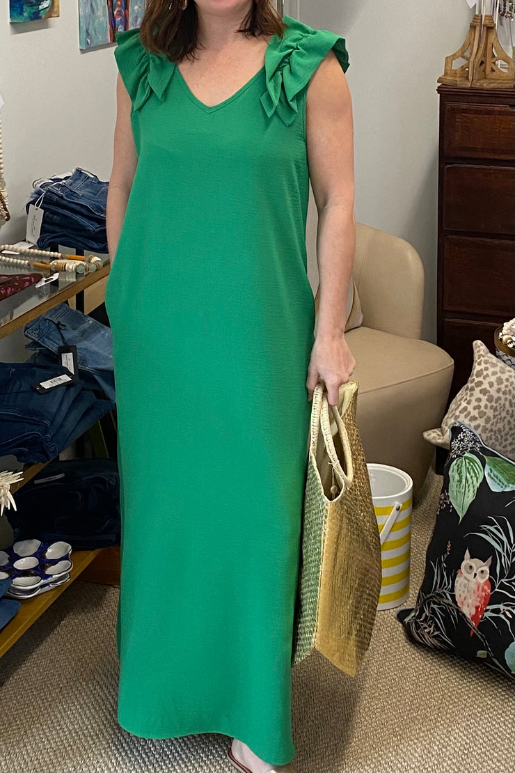 The Colony Dress, emerald