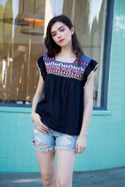 Isabelle embroidered top