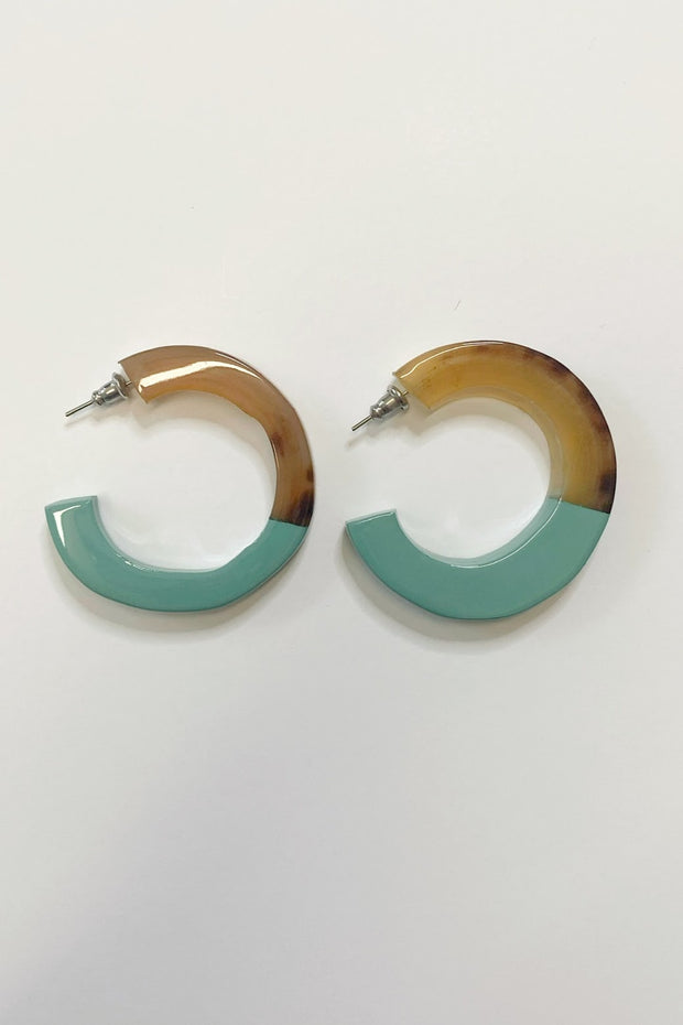 Dominican Republic Earrings, teal