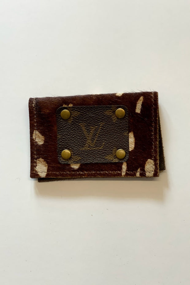 Mills Upcycled LV Cowhide wallet