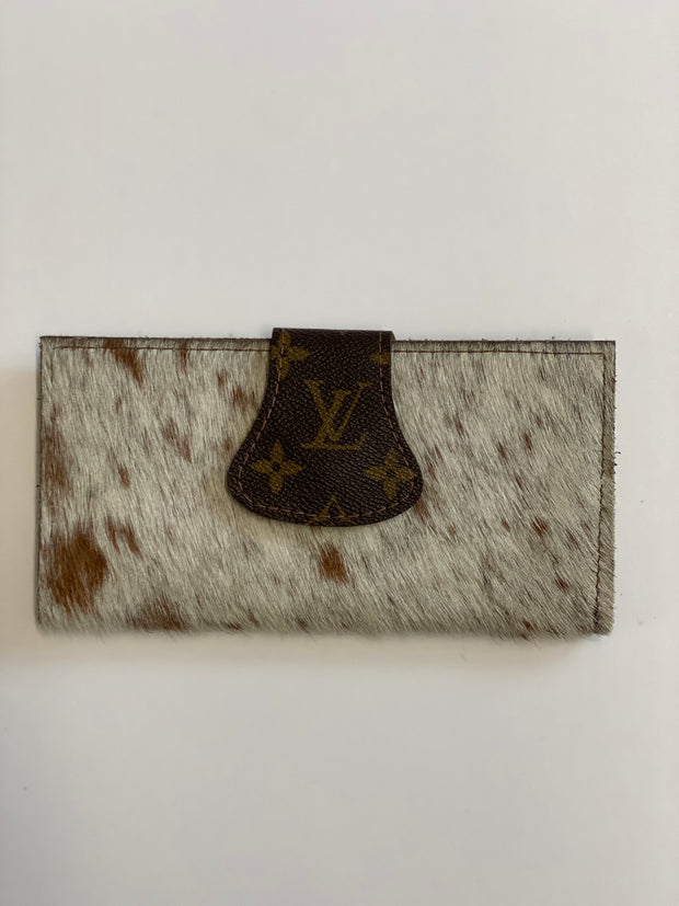Oxner Upcycled LV Cowhide full size wallet