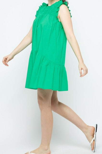 Anderson dress, kelly green