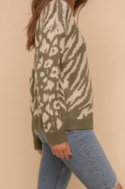 McLeod Animal Print Sweater