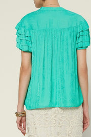 Claudette top, evergreen