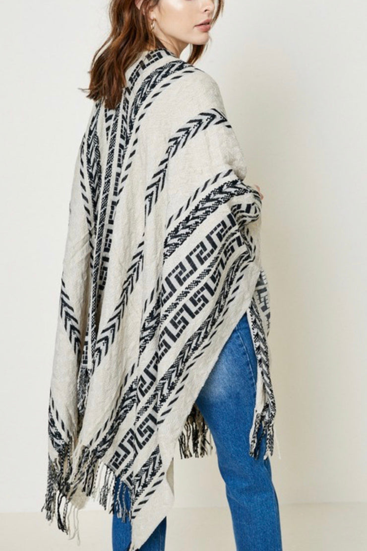 Telluride Embroidered Poncho Sweater