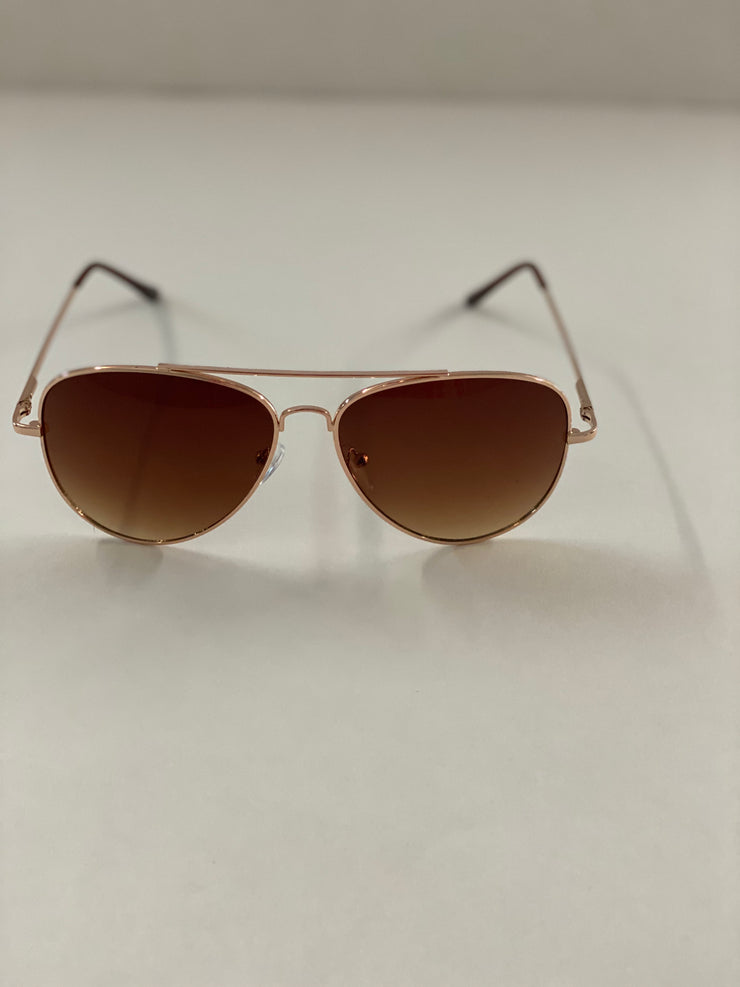Classic Aviator sunglasses, brown