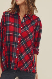 Colleen Plaid Button Down Top