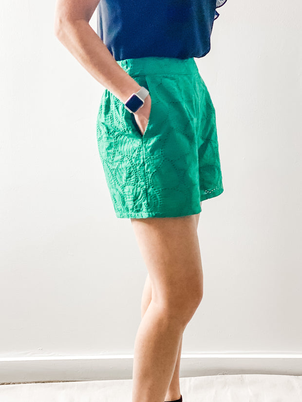 Pawleys Green eyelet shorts