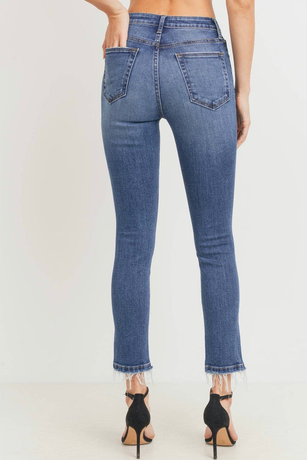 Erin High Rise Destructed Skinny Jeans