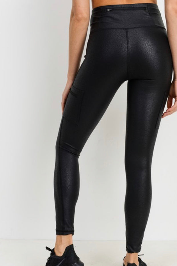 Franklin high waisted leggings with zip pocket