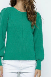 Burlington Puff Sleeve Sweater, green