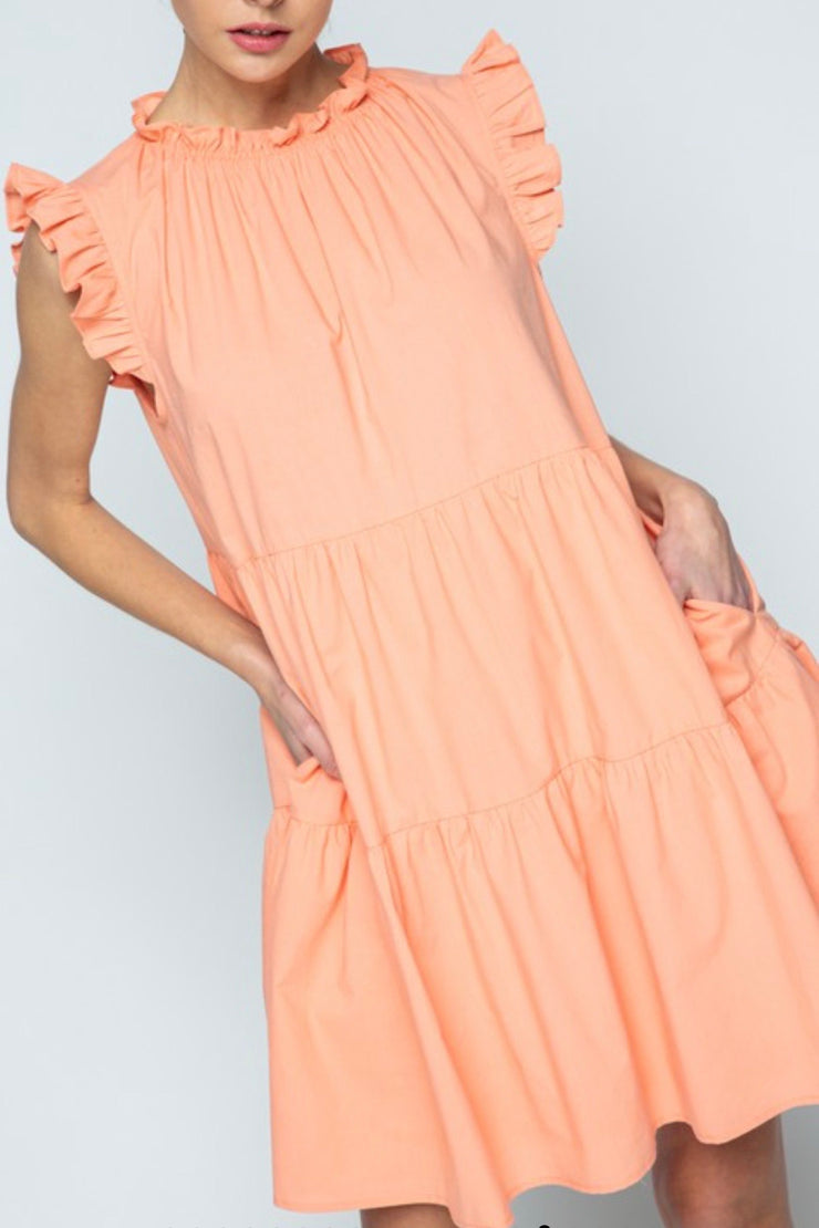 Carolina Beach Dress, cantaloupe