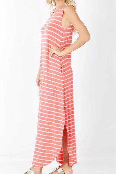 Georgetown Stripe Tee Maxi Dress