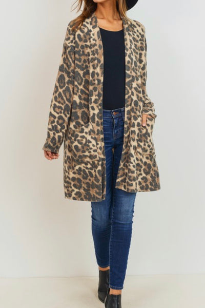 Franklin Cardigan, Animal Print