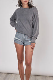 French Quarter Sweatshirt top, charcoal