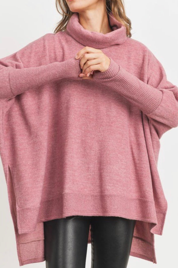 Brevard sweater top, rose