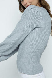 Burlington Puff Sleeve Sweater, grey