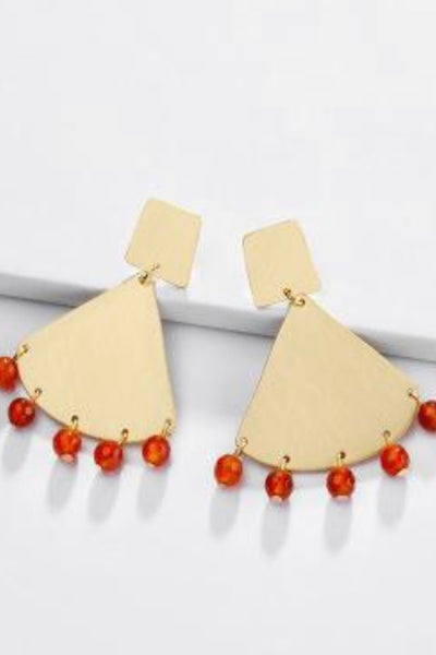 Jax beach Triangle drop earrings