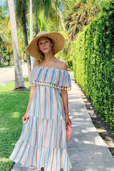 Sunset Beach tassel dress