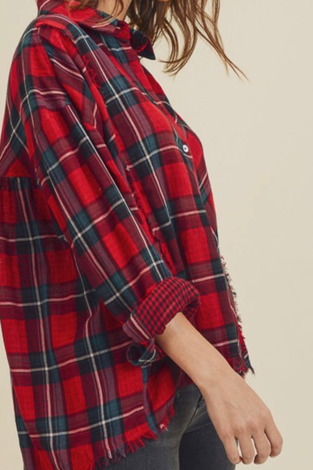 Colleen Plaid Button Down Shirt
