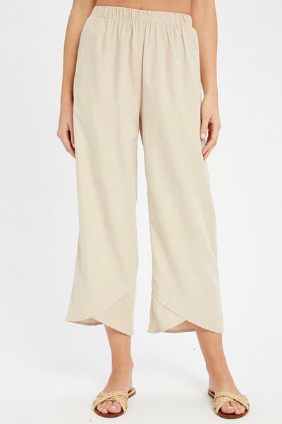 Natalie petal hem pants, cream