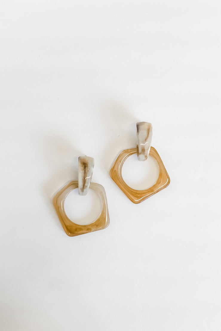 Ginger pentagon earrings